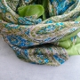 Indian silk scarf square light green color