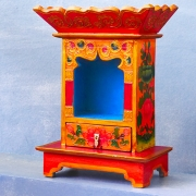 Handcrafted wooden temple Nepalese Altar