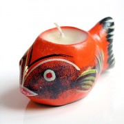 Porte bougie indien Poisson orange