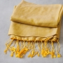 Nepalese handcrafted scarf Chakra yellow