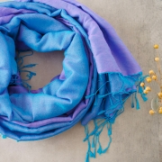 Nepalese handcrafted scarf Chakra blue