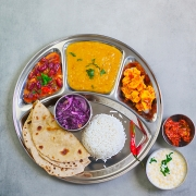 Indian SS round section Thali Ø32