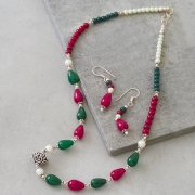Indian jewelry set ethnic design colorful