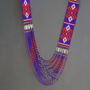 Indian ethnic pearls necklace purple