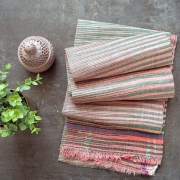 Indian Khadi handcrafted towel pink color