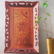 Indian handcrafted wooden tray for service Large