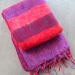 Nepalese meditation shawl purple and red