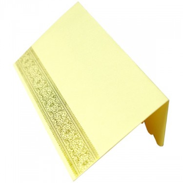 Mail yellow and gold envelope