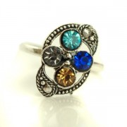 Indian foot ring blue