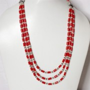 Fancy Indian necklace mala red