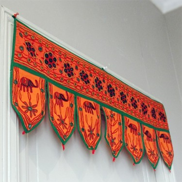 Waner wall Indian orange cotton