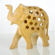 Sculpture indienne sur bois Elephants