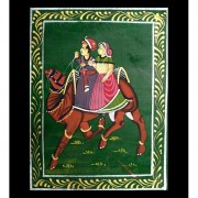 Indian miniature painting Ride green