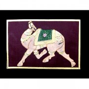 Indian painting small Camel purple L