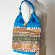Sac à main indien fashion bleu