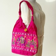 Sac à main indien Rani rose