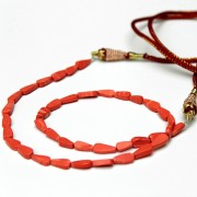 Adjustable Indian necklace pink coral