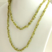 Long Indian necklace green stones