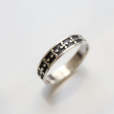 Indian silver ring for man Mayura T10