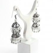 Indian earrings Jhumka double