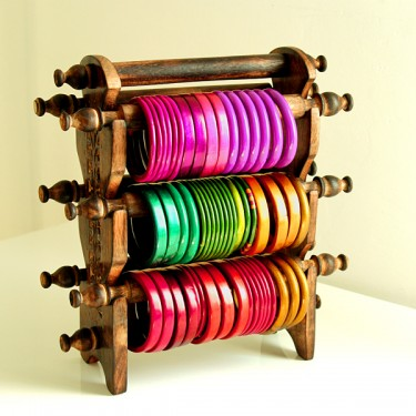 Bangles stand wooden 3 raws