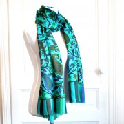 Indian Cashemere wool stole green