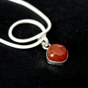 Silver and carnelian Indian pendant
