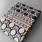 Indian printed tablecloth Dark blue