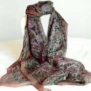 Indian silk scarf brown