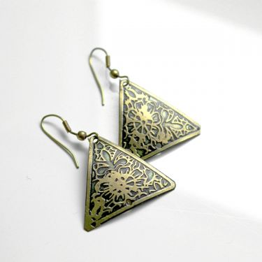 Fancy Indian earrings metal triangle