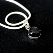 Silver and black onyx Indian pendant
