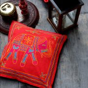 Indian cushion cover Lal elephant