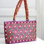 Indian ethnic handbag Andaz purple