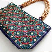 Indian ethnic handbag Andaz navy blue