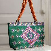 Indian ethnic handbag Andaz green
