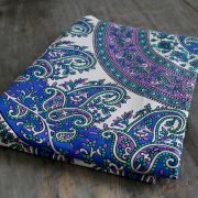 Indian cotton wall hanging Mandala blue and purple