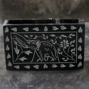 Pen holder Indian marble black