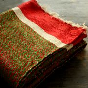 Indian carpet green and red Khaadi Dari