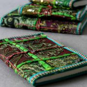 Indian handicraft 100% coton diary green