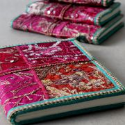 Indian handicraft 100% cotton diary pink