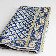 Indian handicraft table runner blue
