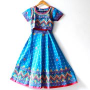 Indian blue Lehenga set for children