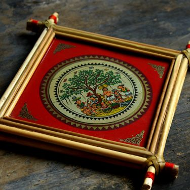 Handicraft Indian palm tree frame Market