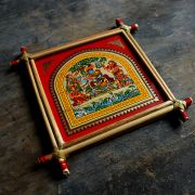 Handicraft Indian palm tree frame Krishna
