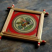 Handicraft Indian palm tree frame Horse