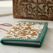 Indian handicraft diary white and gold