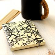Indian handicraft pocket diary white