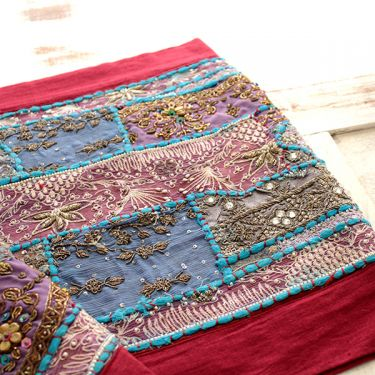 Indian handicraft wall hanging brown and blue