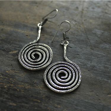 Indian earrings Fancy metal