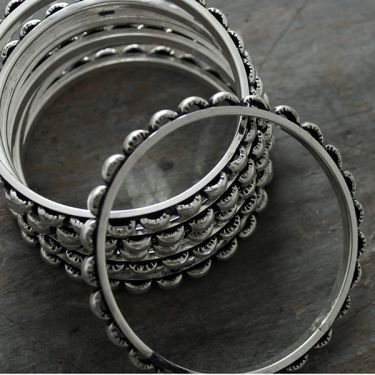 Fancy metal bangles x2